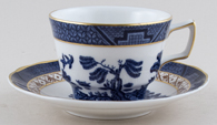 Royal Doulton Real Old Willow Teacup and Saucer c1980s or 1990s