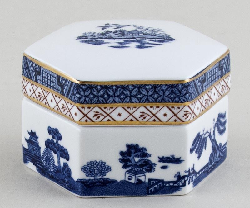 Royal Doulton Real Old Willow Trinket Box c1980s