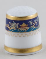 Royal Doulton Unidentified Pattern colour Thimble