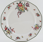 Royal Doulton Old Leeds Sprays colour Plate c1930s
