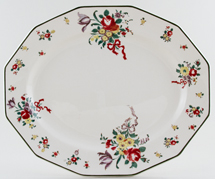 Royal Doulton Old Leeds Sprays colour Meat Dish or Platter c1940