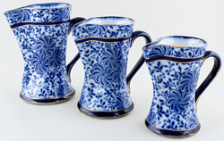 Jugs or Pitchers set of three c1895
