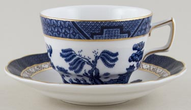 Royal Doulton Real Old Willow Breakfast Cup and Saucer c1980s