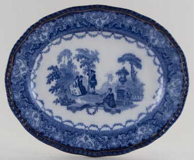 Doulton Watteau Meat Dish or Platter small 1903