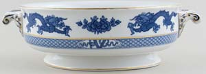 Booths Dragon Vegetable Dish  Base c1920s
