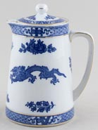 Cauldon Dragon Hot Water Jug or Pitcher c1930s