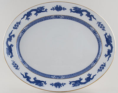 Jones George Dragon Meat Dish or Platter c1935