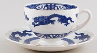 Cauldon Dragon Breakfast Cup and Saucer c1950s