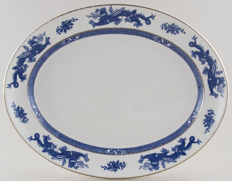 Dunn Bennett Dragon Meat Dish or Platter c1930s