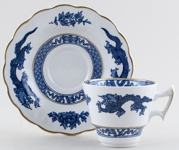Booths Dragon Coffee Cup and Saucer c1950