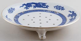 Cauldon Dragon Cress Dish c1930s