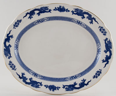 Cauldon Dragon Meat Dish or Platter c1950s