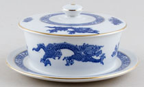 Cauldon Dragon Butter Dish c1930s