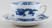 Booths Dragon Teacup and Saucer c1950s
