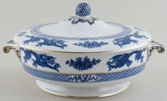 Booths Dragon Vegetable Dish with Cover c1920s