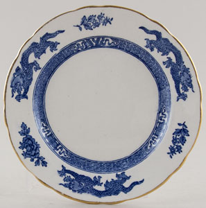 Cauldon Dragon Plate c1950s