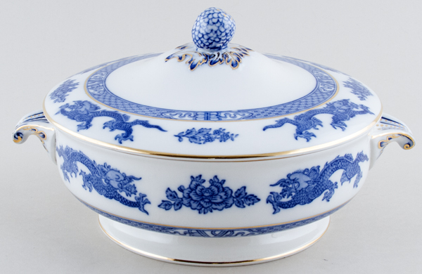 Cauldon Dragon Vegetable Dish with Cover c1930s