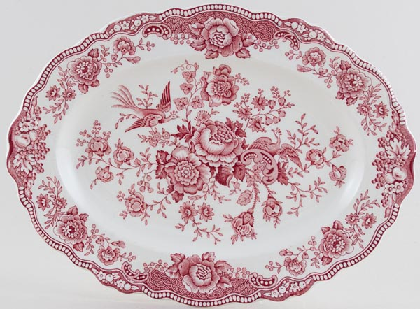 Crown Ducal Bristol pink Meat Dish or Platter c1960