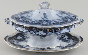 Edge Malkin Iselin grey Sauce Tureen c1900