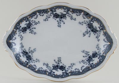 Edge Malkin Iselin grey Platter c1900