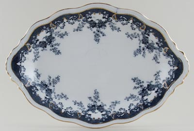 Edge Malkin Iselin grey Meat Dish or Platter c1900