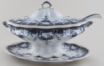 Edge Malkin Iselin grey Soup Tureen c1900
