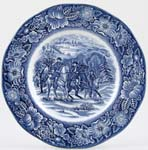 Wedgwood and Co Liberty Blue Plate Washington at Valley Forge c1970s
