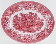 Wedgwood and Co Avon Cottage pink Meat Dish or Platter c1950s
