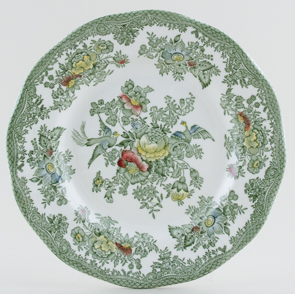 Wedgwood and Co Asiatic Pheasants green with colour Plate c1960