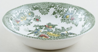 Wedgwood and Co Asiatic Pheasants green with colour Fruit Saucer c1960s