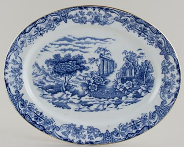 Forester Florentine Meat Dish or Platter c1930s