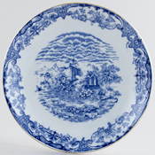 Forester Florentine Cake Plate c1930s