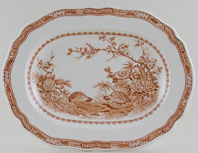 Furnivals Quail brown Meat Dish or Platter