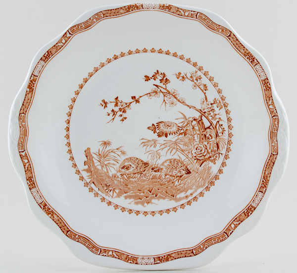Furnivals Quail brown Bread and Butter or Cake Plate
