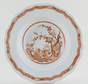 Furnivals Quail brown Dessert or Small Soup Plate