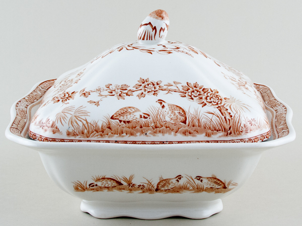 Furnivals Quail brown Vegetable Dish with Cover