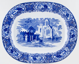 Jones George Abbey Meat Dish or Platter c1932