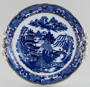 Grainger Two Temples Bread and Butter Plate c1880