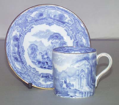 Grimwades Genoa Coffee Can and Saucer c1930