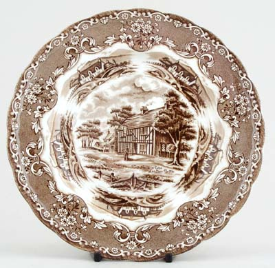 Grindley English Country Inns brown Plate