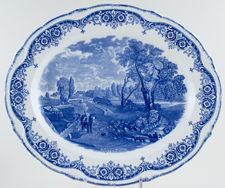 Meat Dish or Platter Flatford Mill c1930s