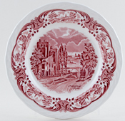 Grindley Scenes After Constable pink Plate Hampstead Road c1950s