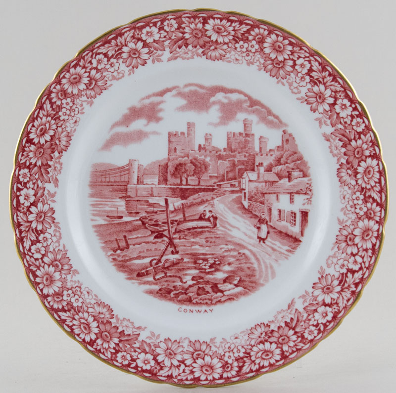 Hudson and Middleton Historical Britain pink Plate c1950s