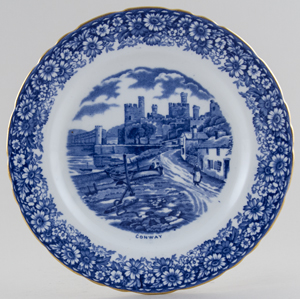 Hudson and Middleton Historical Britain Plate Conway c1950s