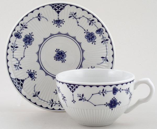 Johnson Bros Blue Denmark Teacup and Saucer   Lovers of Blue and White