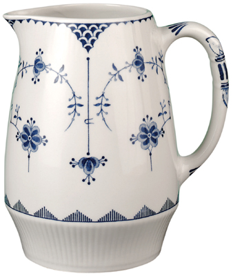 Johnson Bros Blue Denmark Jug or Pitcher   Lovers of Blue and White