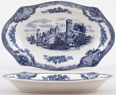 Johnson Bros Old Britain Castles Pickle Dish