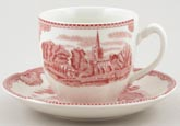 Johnson Bros Old Britain Castles pink Teacup and Saucer
