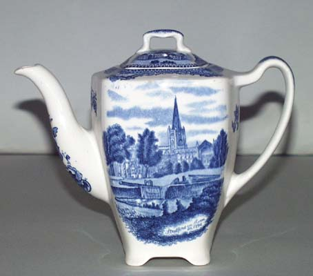 Johnson Bros Old Britain Castles Coffee Pot c1930s