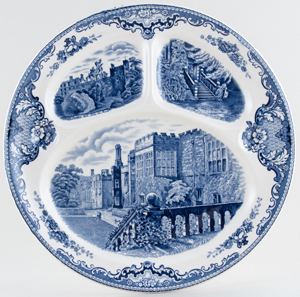 Johnson Bros Old Britain Castles Grill or Chop Plate c1960s